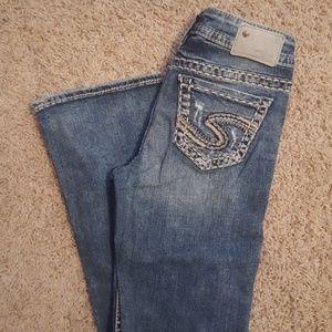 Womans silver jeans